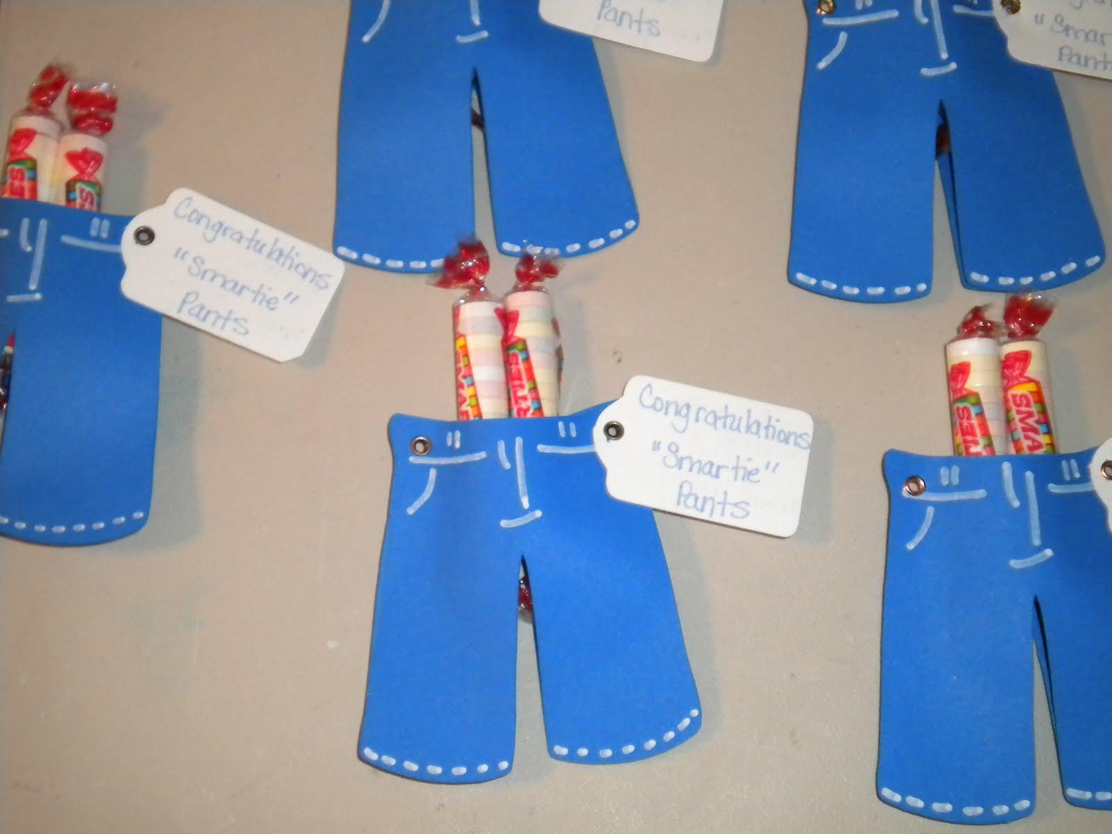 Jean S Crafty Corner Smartie Pants Kindergarten Graduation Treats