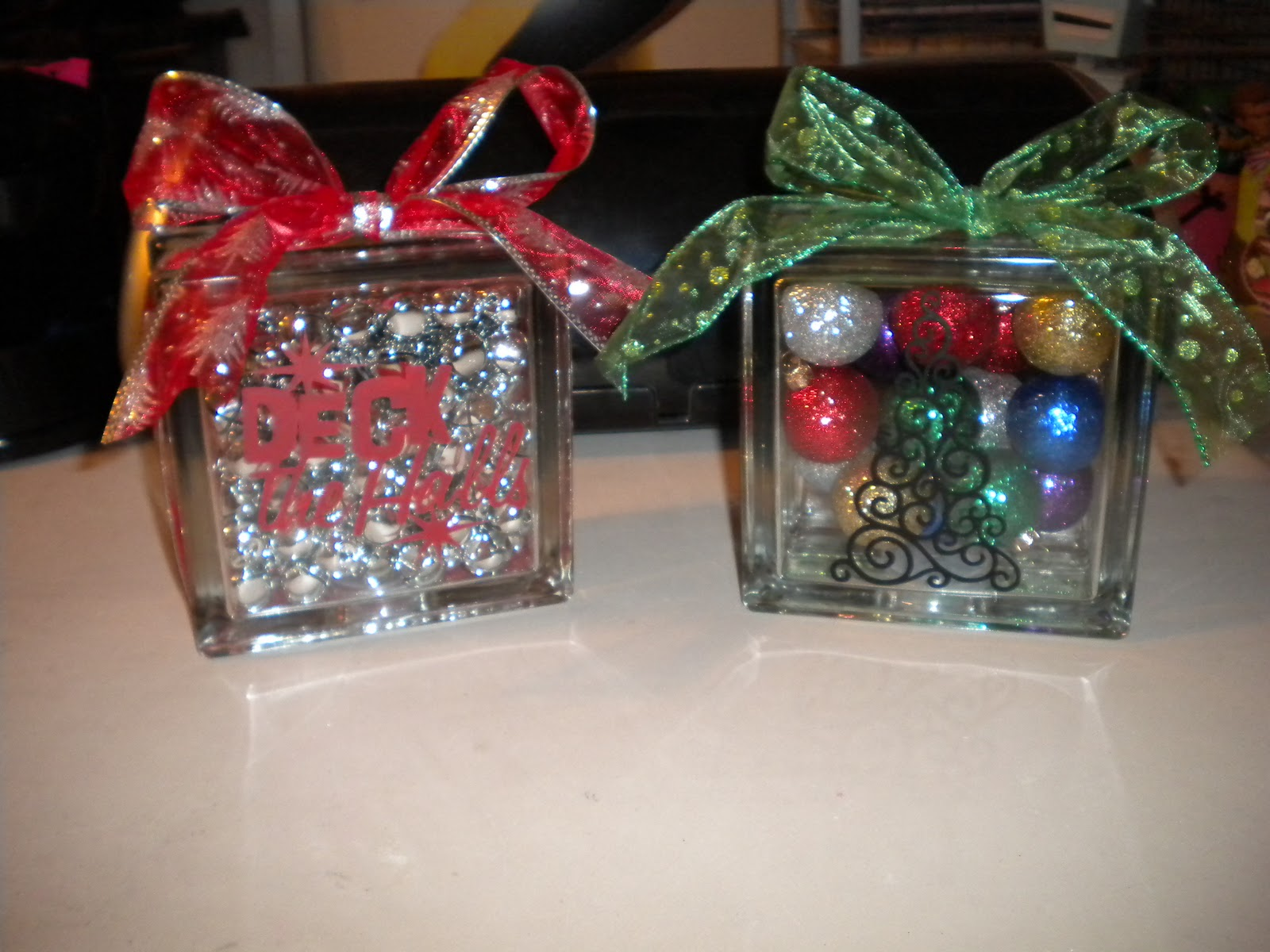 Deco Block Ideas Jean 39s Crafty Corner Day 5 Of 20 Days Of Christmas Glass
