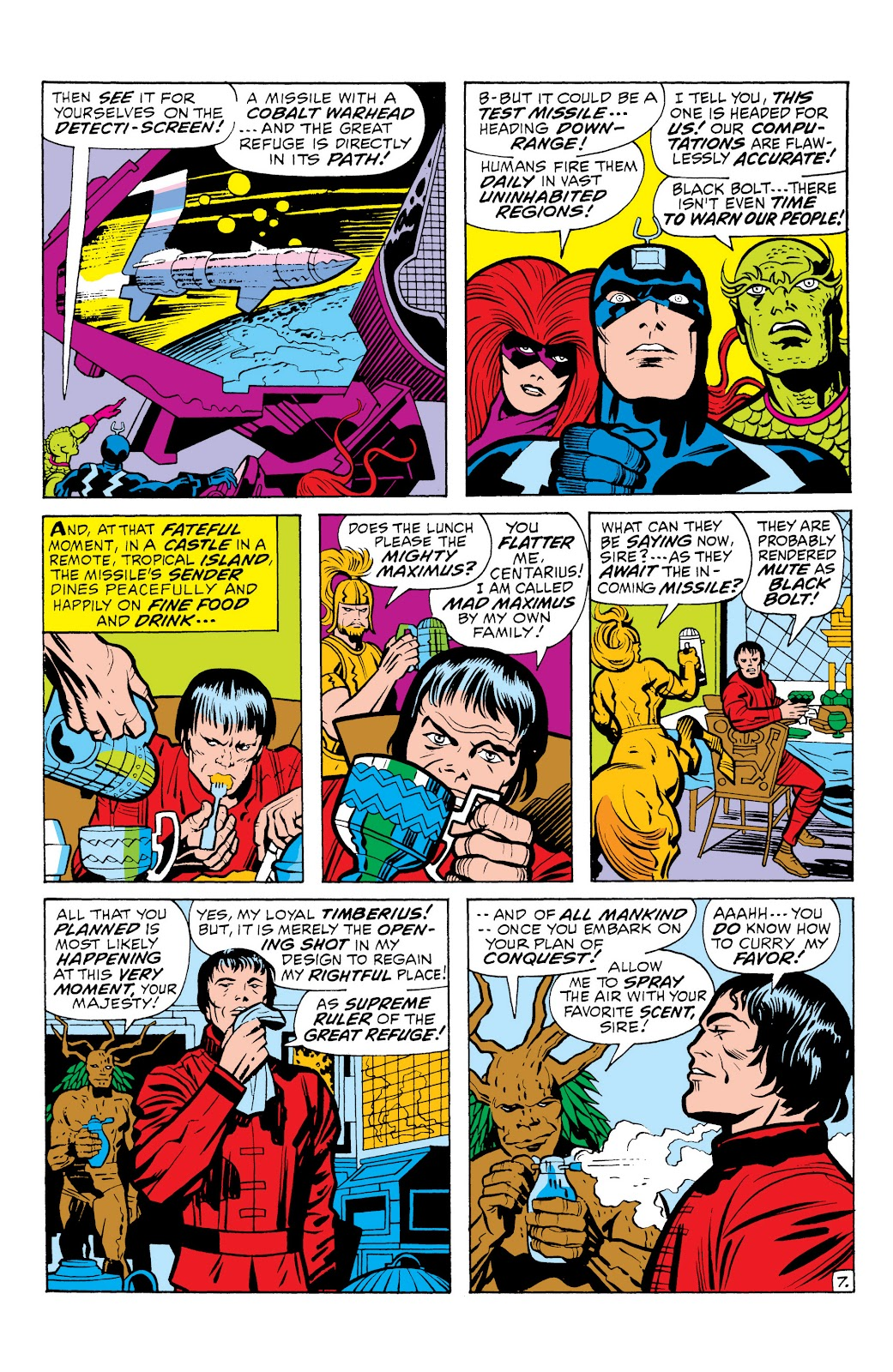 Read online Marvel Masterworks: The Inhumans comic -  Issue # TPB 1 (Part 1) - 76