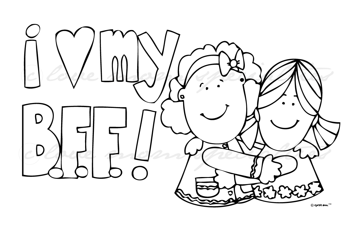 bff pictures coloring pages - photo #5