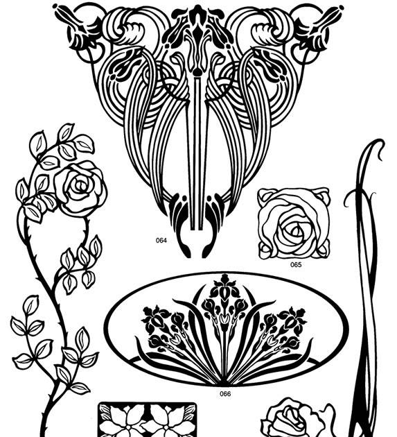Little Grey Bungalow Vintage Images Art Nouveau Motifs