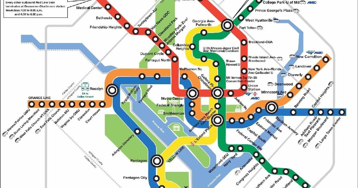 This is a graphic of Printable Washington Dc Metro Map with metro rail