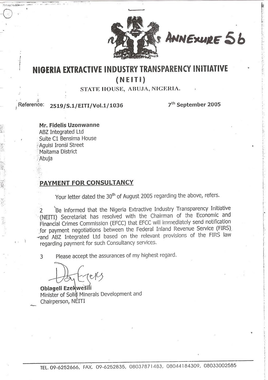 Recall that field work on the abzs investigation of chevron under efcc committee on government revenue fraud was done between december 2003 and january
