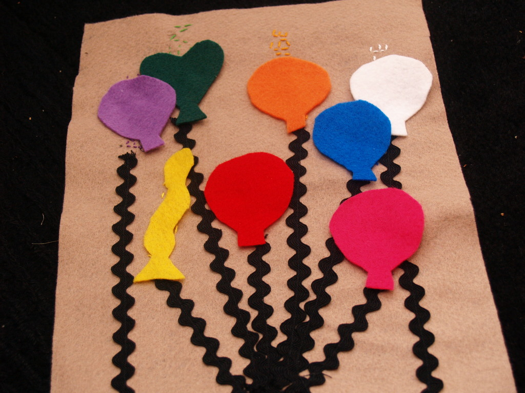 Quiet Book Tutorial Balloon Color Page Housewife Eclectic