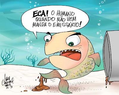Resultado de imagem para saneamento basico no brasil charge