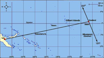 Howland Island On World Map.Malum Nalu Did Amelia Earhart Attempt To Return To Rabaul After