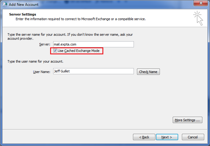 How to Configure Fast Cached Exchange Mode Settings for Outlook 2010