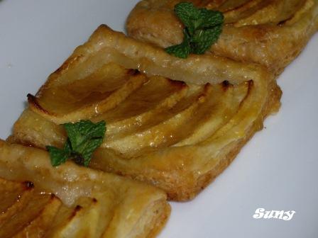 Masa de hojaldre Paso a paso y Tartitas de manzana