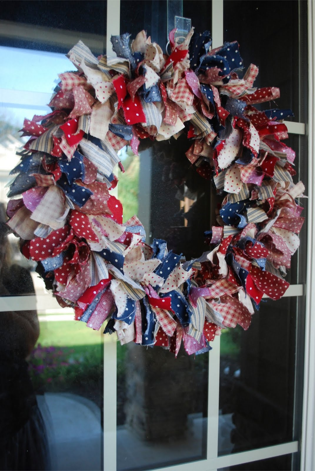 Laffty Crafty Patriotic Rag Wreath