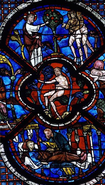 Chartres, o Genese, criacao do homem, catedrais medievais