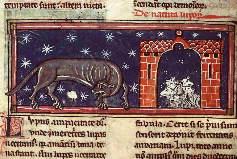 Lobo e ovelhas, Contos e Lendas da era medieval