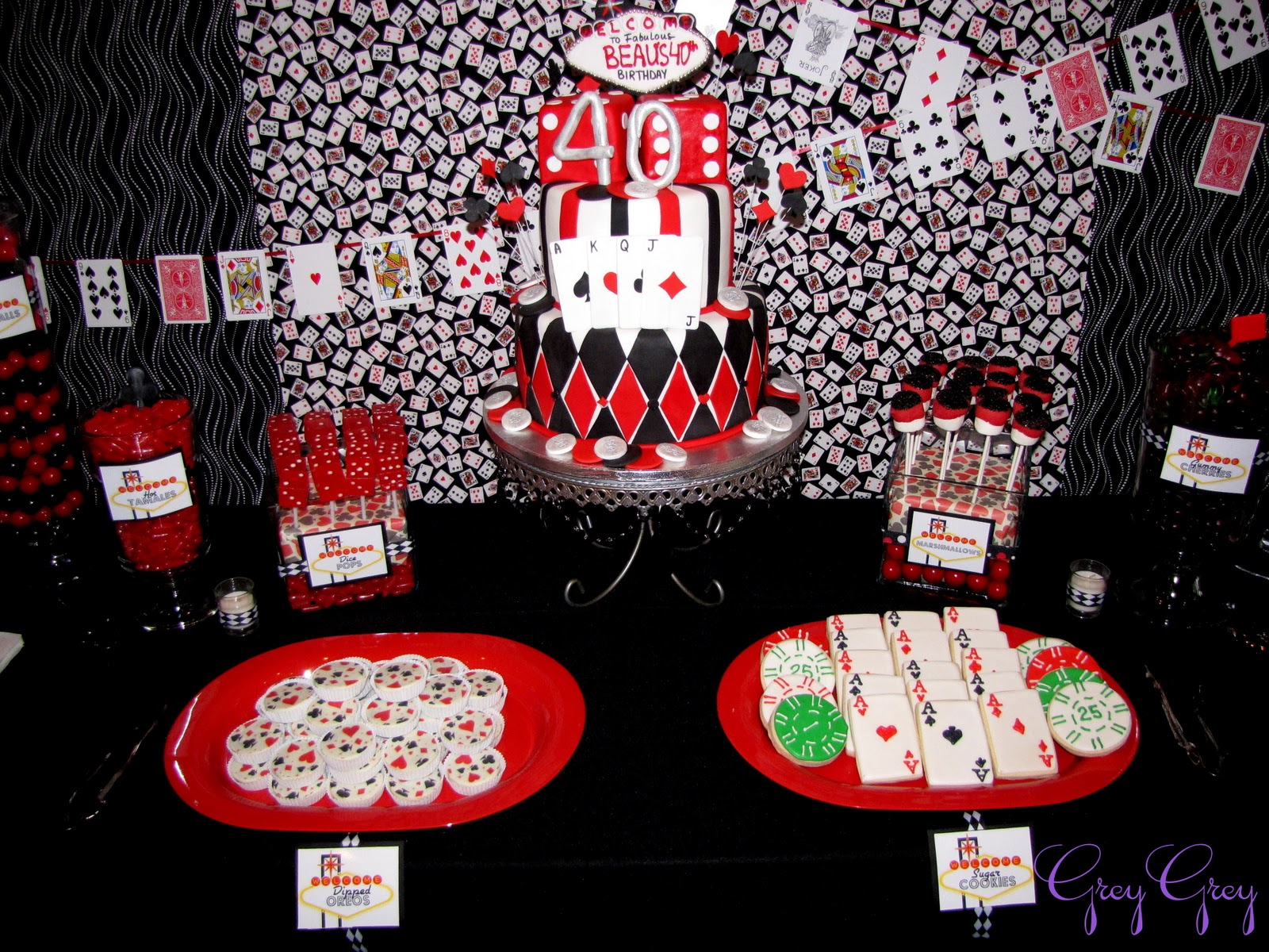 GreyGrey Designs Casino 40th Birthday Party