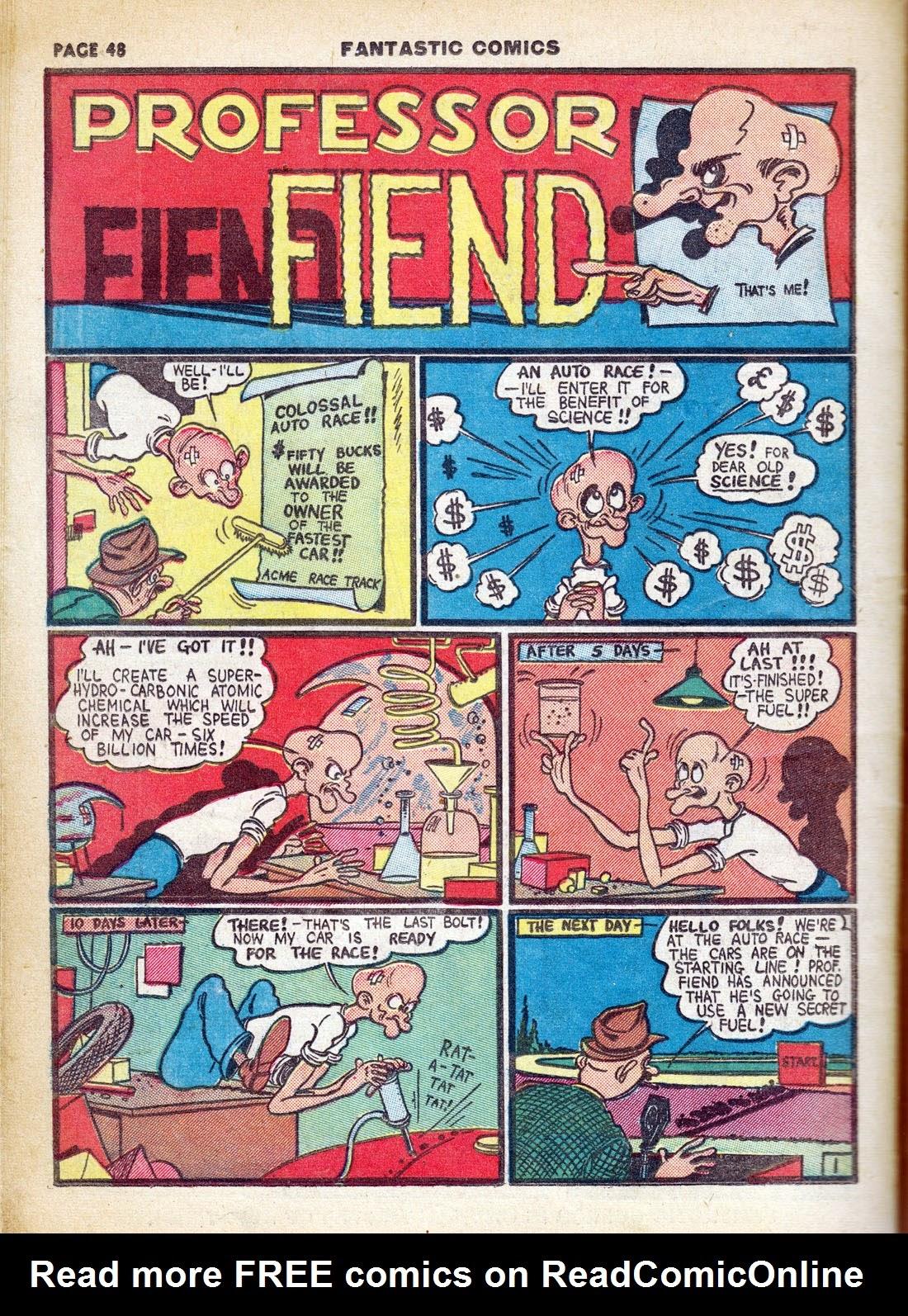 Read online Fantastic Comics comic -  Issue #7 - 50
