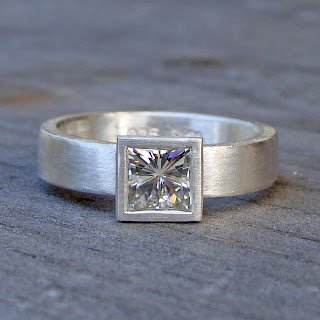square moissanite ring