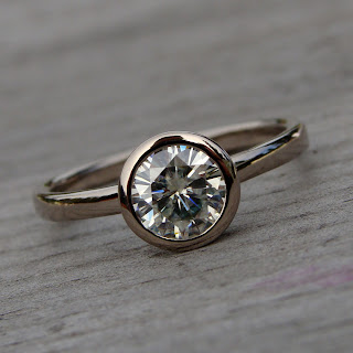 moissanite engagement ring
