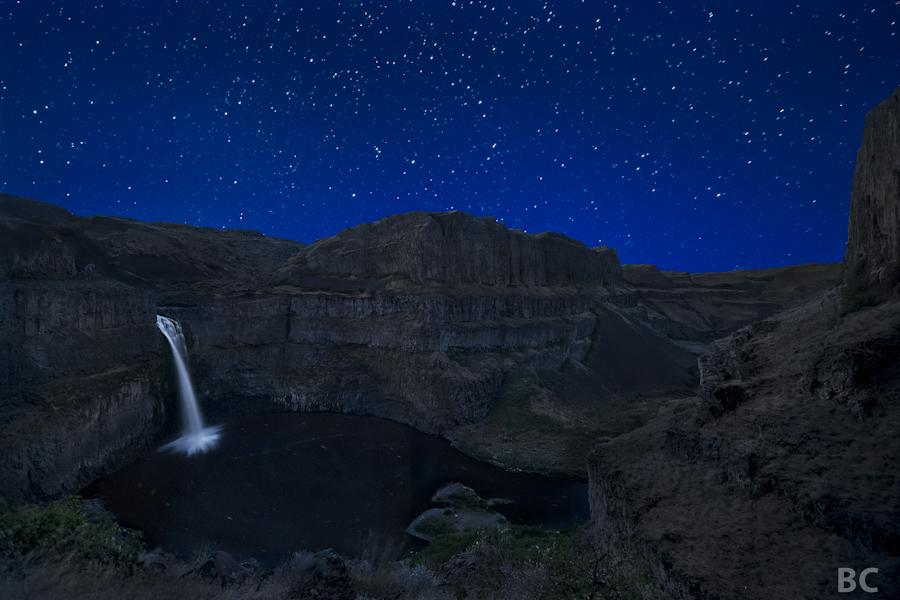 Multnomah Falls Oregon Wallpaper The Star Trail Palouse Falls Washington