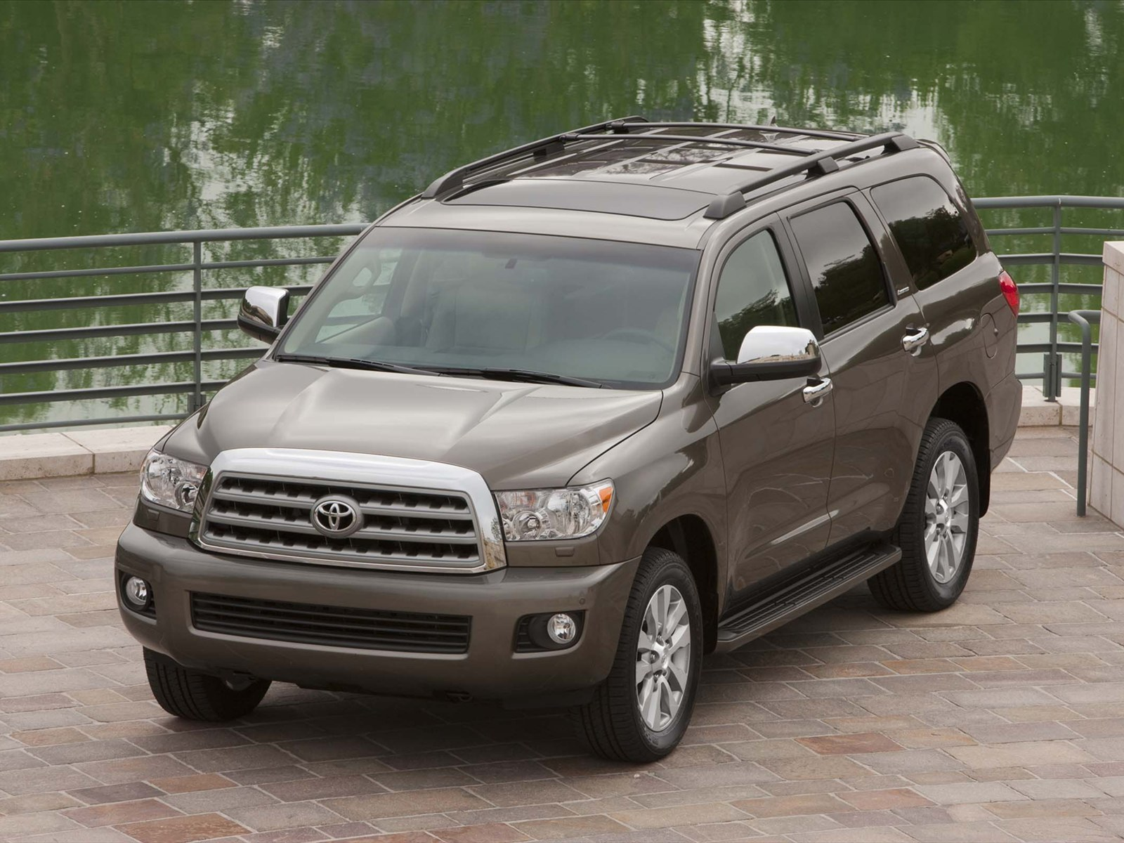 2017 Toyota Sequoia Front Top Angle View
