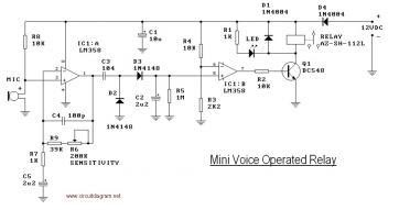 circuit and wiring diagram mini voice operated relay. Black Bedroom Furniture Sets. Home Design Ideas