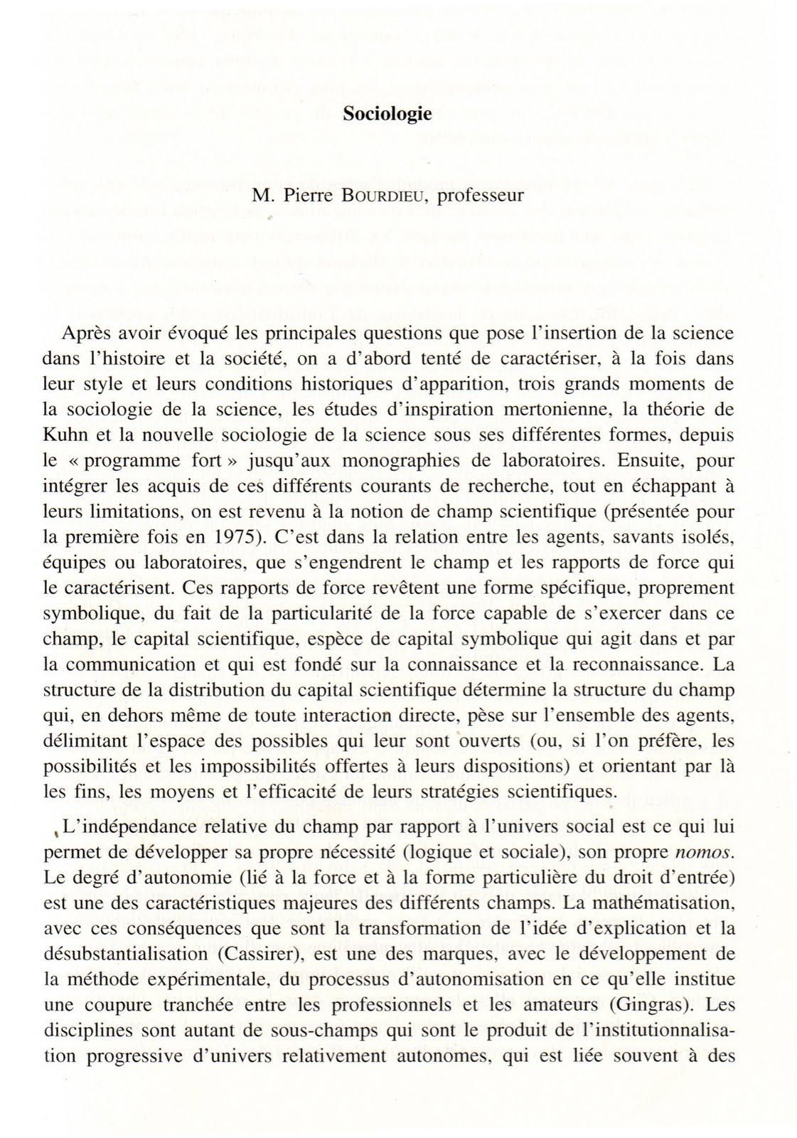 Pierre bourdieu un hommage r sum et livre pierre - Effroyables jardins resume du livre ...
