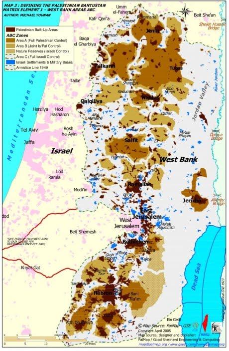 israel map area