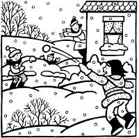 Okul öncesi Etkinlik Dünyası Kış Mevsimi Boyama Sayfaları
