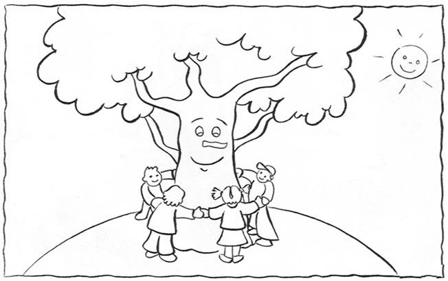 Okul öncesi Orman Haftası Boyama Sayfaları Gazetesujin