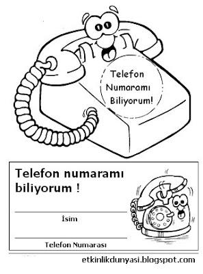 Okul Oncesi Telefon Resmi Boyama Coloring Free To Print