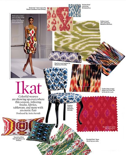 Trend Alert African Decor: Barrie Briggs Spang: Ikat; Trend Or Classic?