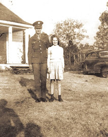 Private Martus Douglas and his cousin Margaret six weeks before he was killed in France in WW2