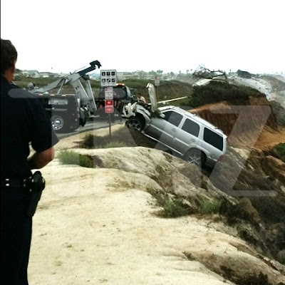Junior Seau Is Arrested For Domestic Violence, Then Released, And Then He Drives His SUV Off A Cliff