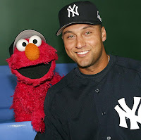 Derek Jeter and Elmo