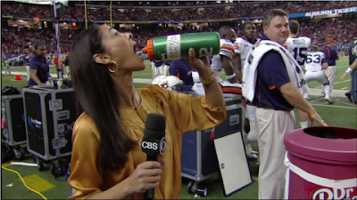 Tracy Wolfson drinking the Cammy Cam juice