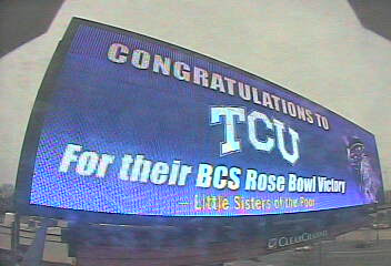 TCU billboard