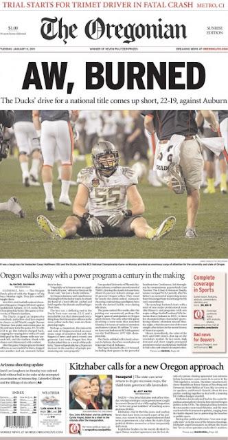 Oregonian clever headline