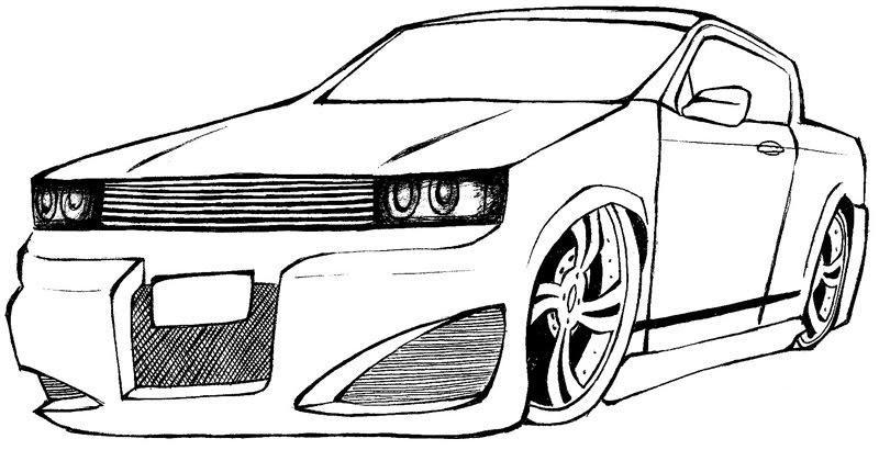 Pickup. Desenho De Carro Para Colorir Muitos Modelos