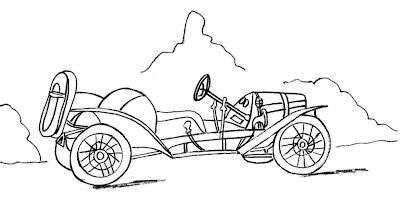 Carros Para Pintar Desenhos De Carros Antigos Para Colorir Ou