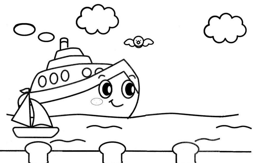 Desenho De Barco Para Colorir Desenho De Navio