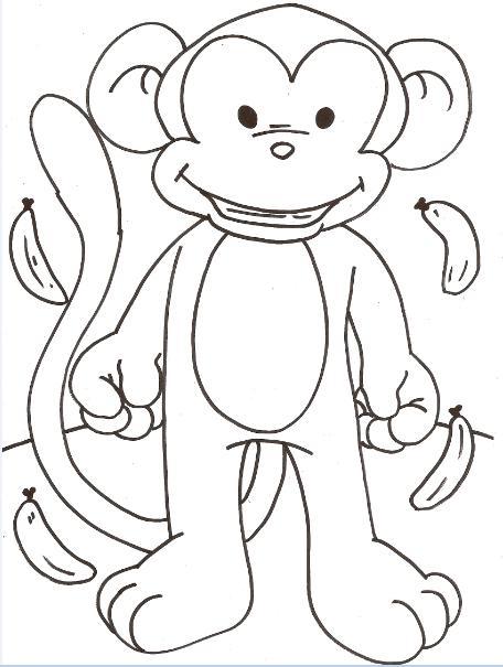 Desenhos Para Colorir De Animais Macaquinho Fofo Qdb
