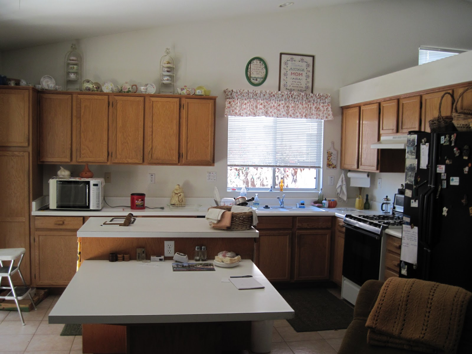Kitchen Table Island Combo Amish Made Cabinets Welcome Wallsebot Tumblr