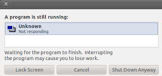 Both CPU running almost 100% on ubuntu 10.10 a program still running shut down message