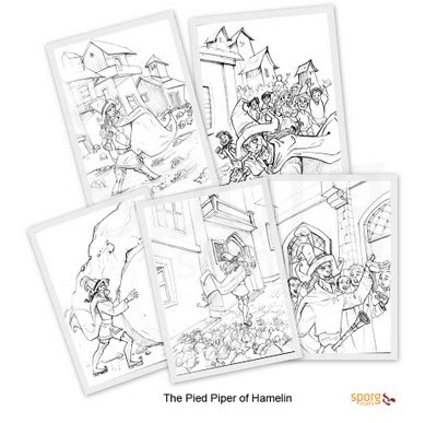 SPORG Studio: Sketches from The Pied Piper of Hamelin