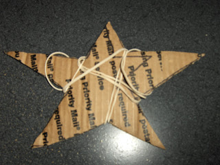 cardboard shape and rubberbands