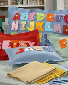 ABC Felt Pillow