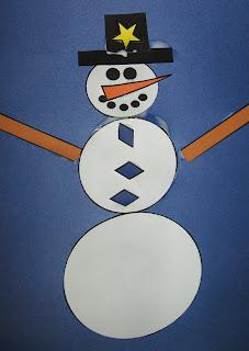 snowman shapes craft