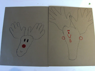 handprint/footprint reindeer
