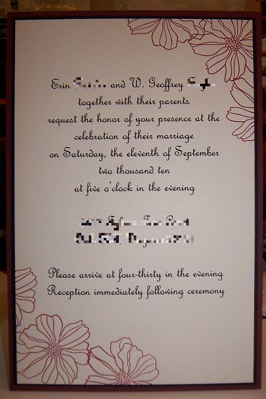 Tonistamps Wedding Invitation