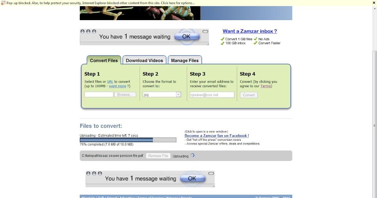 Genea-Musings: Using Zamzar com to Convert PDF Files to JPG