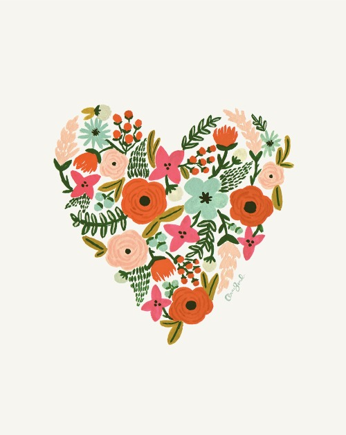 Rifle Paper Co heart print