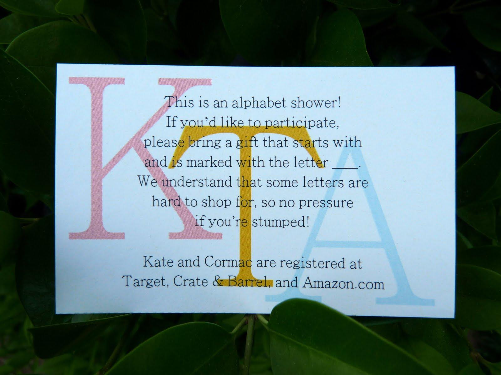 56ee5b564716 Alphabet bridal shower invitations - Em for Marvelous -