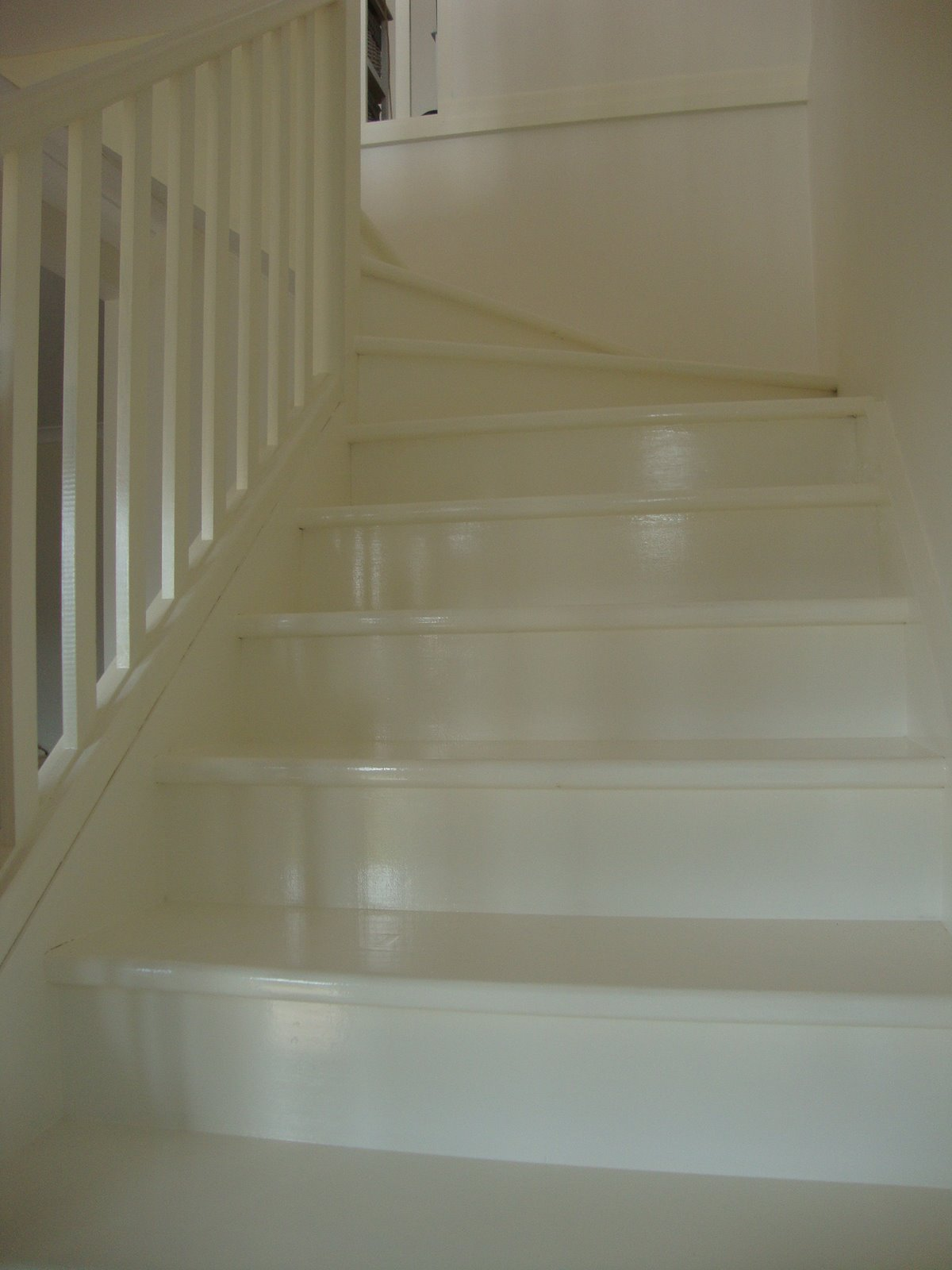 White Painted Timber Stairs Paint Me White